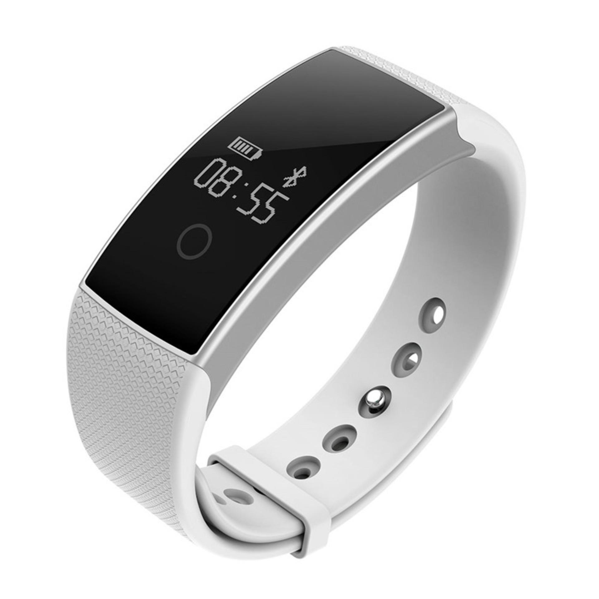 2016 Best Quality TTLIFE A99 smart bracelet heart rate monitor Blood oxygen monitor pedometer bracelet (white)