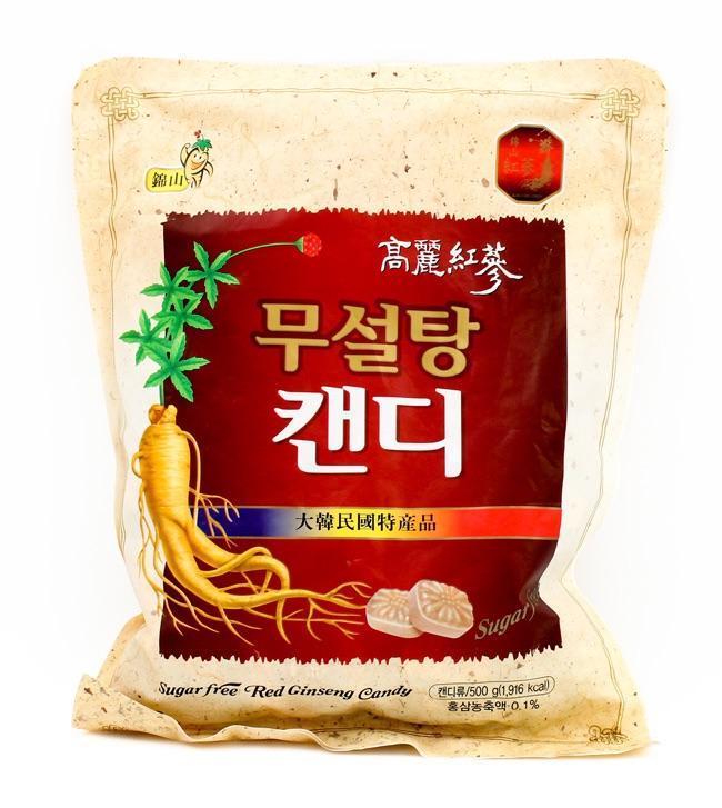 Hình ảnh Kẹo Sâm Không Đường Korea Red Ginseng Hàn Quốc 500G