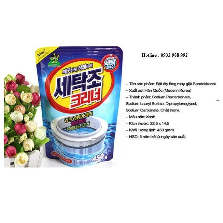 Hình ảnh Bột tẩy lồng máy giặt siêu sạch Hàn Quốc 450gram