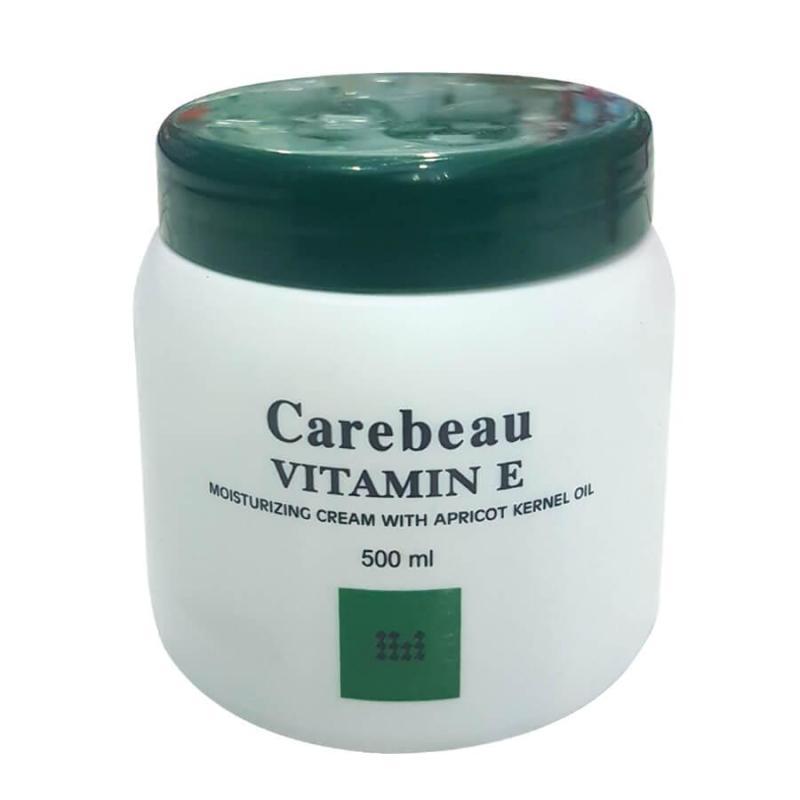Kem dưỡng da toàn thân Carebeau Body Cream Viatmin E màu xanh 500ml Thái Lan nhập khẩu