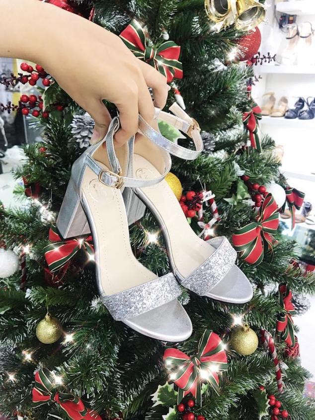 Giày sandal quai ngang kim tuyến 7p MYS giá rẻ