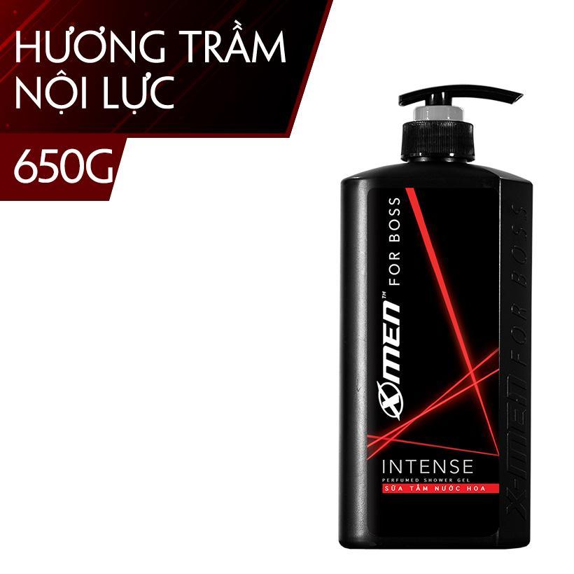 Sữa tắm nước hoa X-Men For Boss Intense - Mùi hương trầm đầy nội lực 650g nhập khẩu