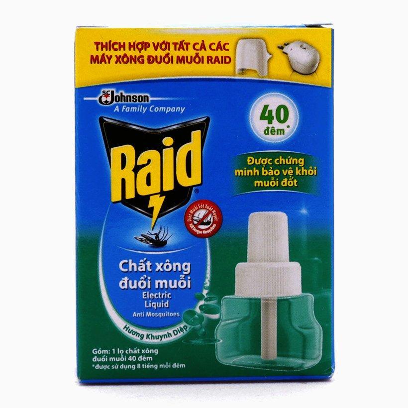Hình ảnh Ruột Máy Xông Đuổi Muỗi RAID Hương Khuynh Diệp 21ml