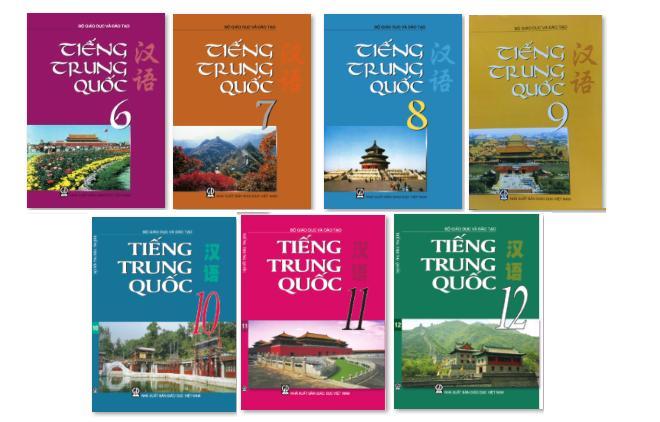 Mua Bộ sách giáo khoa tiếng Trung THPT Lớp 6 đến lớp 12 (7 quyển)( tặng 40 quyển giáo trình file pdf qua mail)