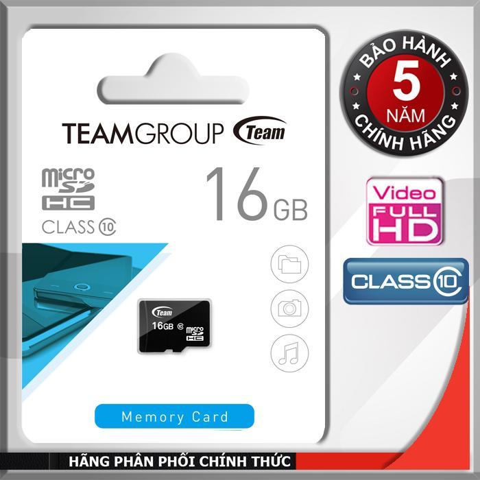 Thẻ nhớ 16GB Team MicroSDHC Class 10 - Hãng phân phối chính thức