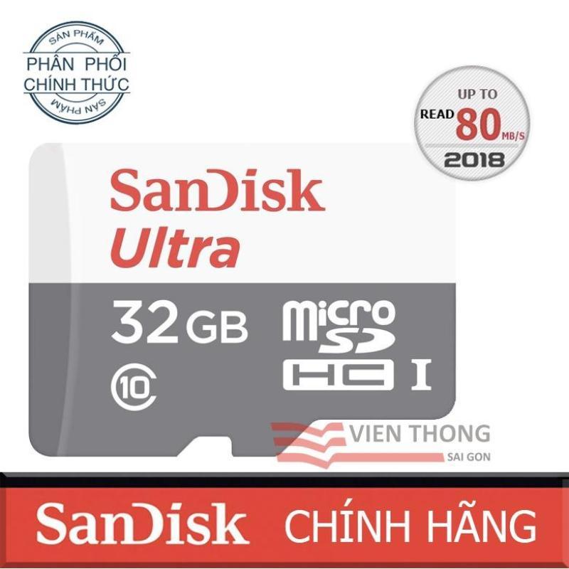 Thẻ Nhớ Micro SD Ultra Sandisk 32GBClass10-48MB/s-HãngPhânphốichính thức