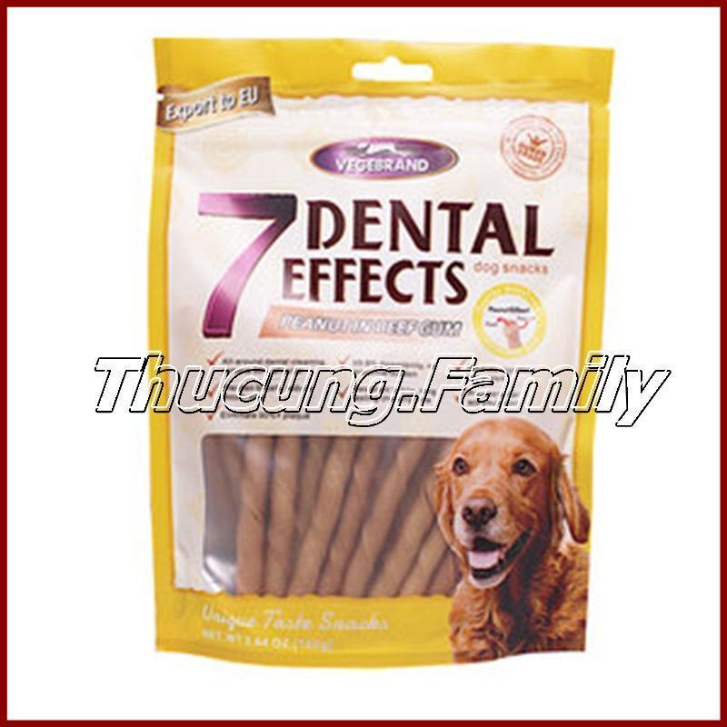 Bánh xương Dog snacks, 7 Dental Effects. 160g/gói.