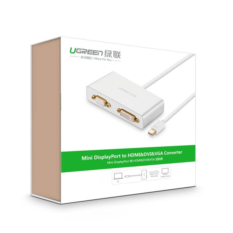 Cáp chuyển đổi (3 in 1) từ 1 cổng Mini DisplayPort sang 1 trong 3 cổng HDMI, DVI-I (24+5), VGA đầu cái UGREEN MD109