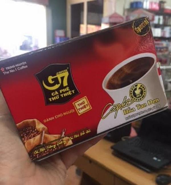 Cà phê G7 hòa tan ĐEN - không đường 15 gói x 2g