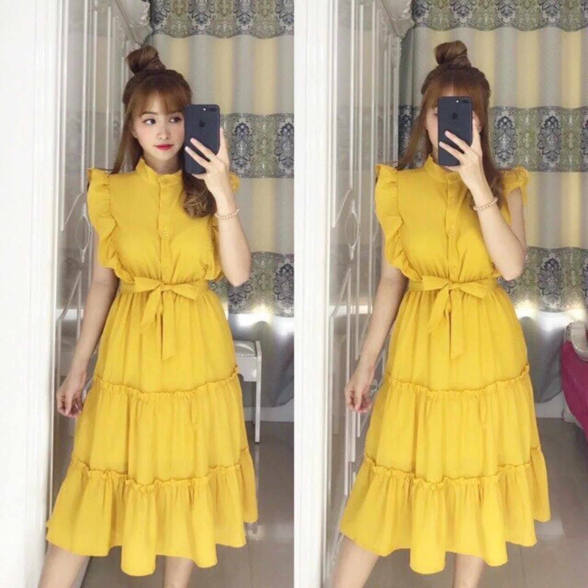 Hình ảnh Đầm nữ cánh tiên dạng tầng chất kate nhiều màu