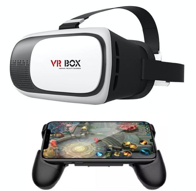 Kính thực tế ảo VR Box phiên bản 2 (Trắng) + Tặng 1 tay cầm chơi game