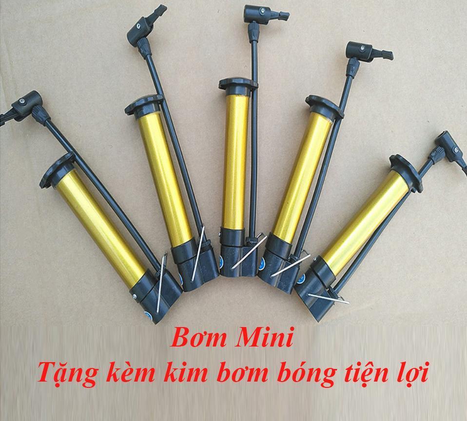 Bơm Mini Cầm Tay, Bơm Xe đạp Xe Máy Tặng Kèm Kim Bơm Bóng Tiện Lợi By Khai Thanh Shop.