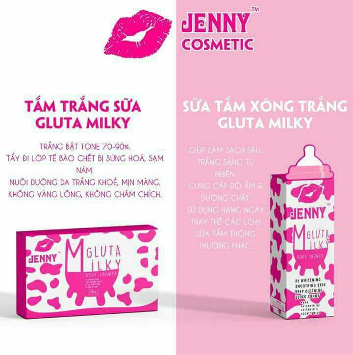 Tắm Trắng Gluta Milky, Tặng Ngay Sữa Tắm Gluta Milky Tri Giá 200k