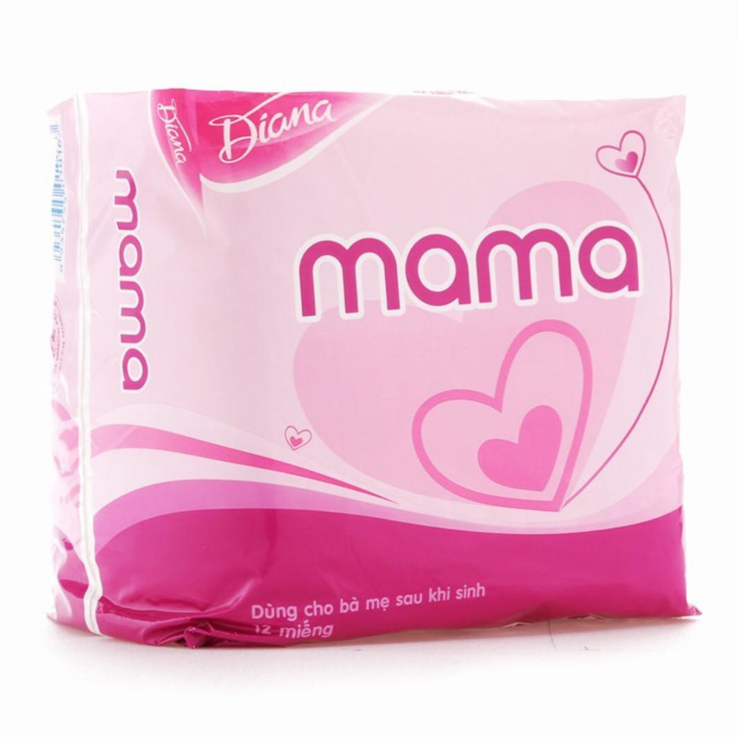 Set 2 bịch Băng vệ sinh Diana MaMa cho mẹ sau sinh, loại 12 miếng nhập khẩu