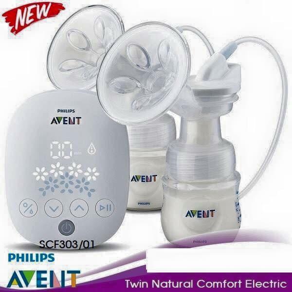 Máy hút sữa điện đôi Philip Avent Natural SCF303/01