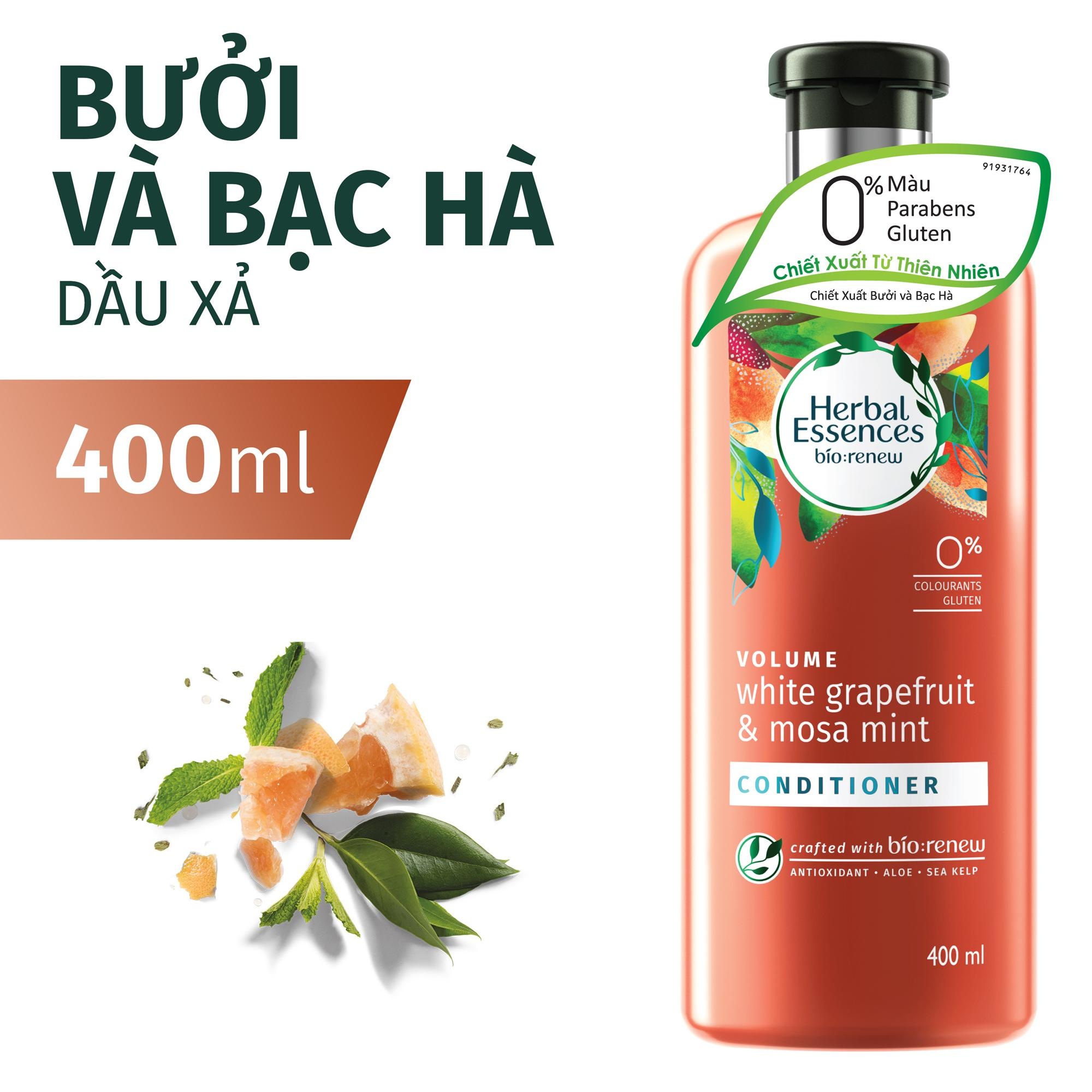 Dầu Xả Herbal Essences Bưởi & Bạc Hà 400ml