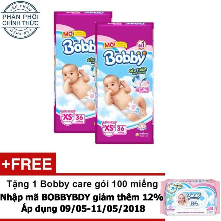 Ôn Tập Trên Bộ 2 Ta Giấy Bobby Sm Newborn Xs36 Tặng 1 Bobby Care Goi 100 Miếng Trị Gia 34 500 Vnd
