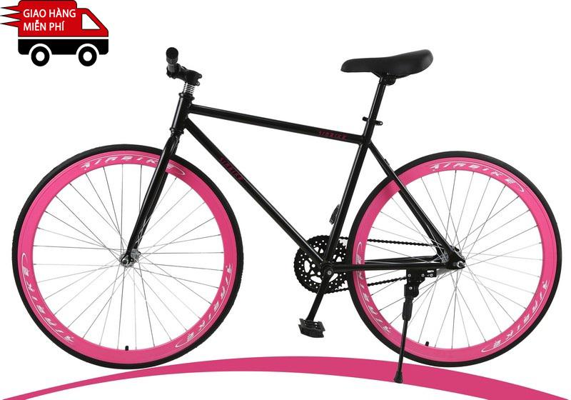 Mua Kachi - Xe đạp Fixed Gear Air Bike MK78 (đen hồng)