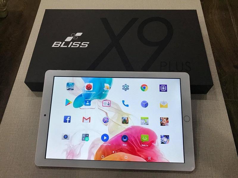 Máy tính bảng Bliss X9 Plus - 4G( màu trắng bạc)