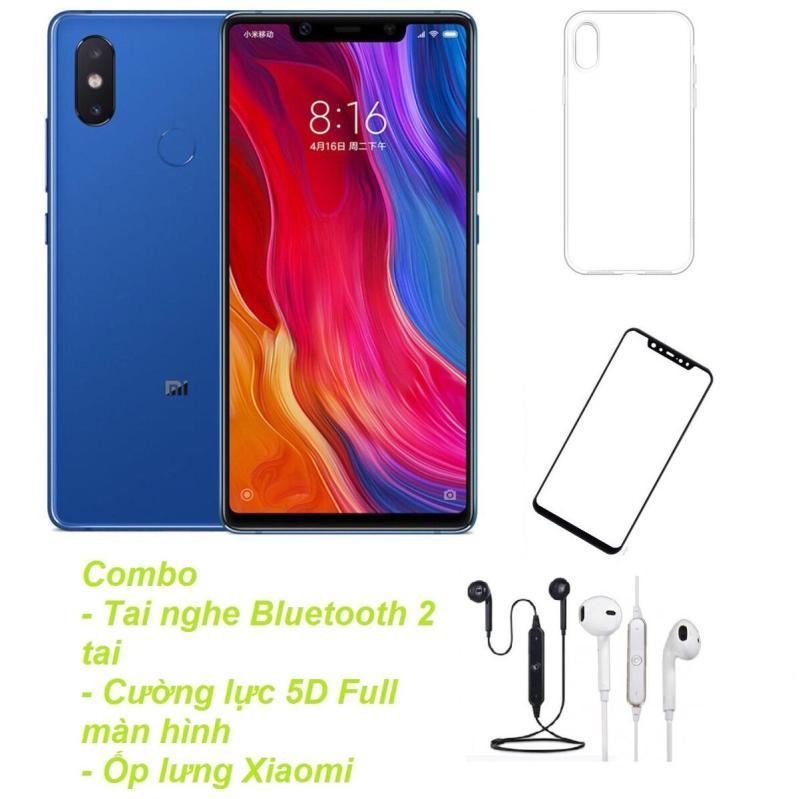 Xiaomi Mi 8SE 64GB Ram 4GB  (Xanh) + Tai nghe Bluetooth 2 tai + Cường lực 5D Full màn hình + Ốp lưng - Hàng nhập khẩu