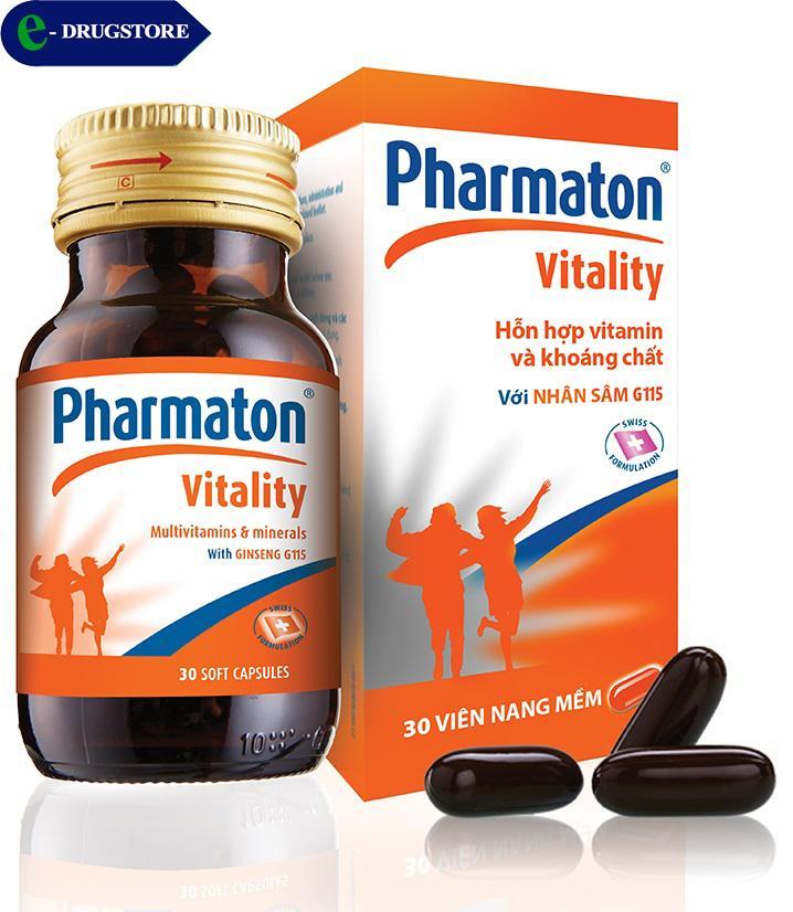 Pharmaton Vitality. Lọ 30 viên nang mềm