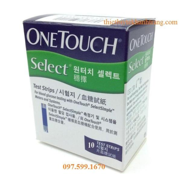 Nơi bán Que thử đường huyết OneTouch Select