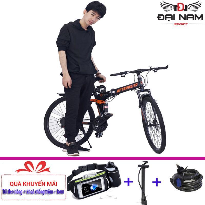 Xe đạp thể thao gấp gọn After Ward + (Tặng túi đeo hông + Tặng khoá và bơm)