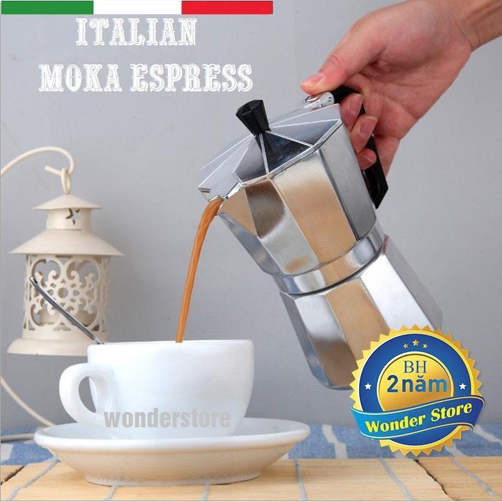 Hình ảnh Bình pha cà phê Moka Top Stove phong cách Ý 3 tách (150ml)