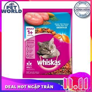 Thức ăn cho mèo Whiskas vị cá biển túi 400g thumbnail