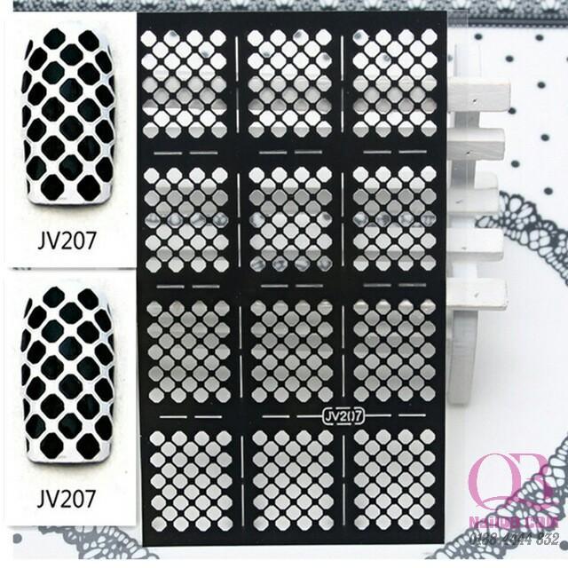 Giấy dán lưới hollow sticker tạo kiểu cho móng hơn 20 kiểu tùy chọn