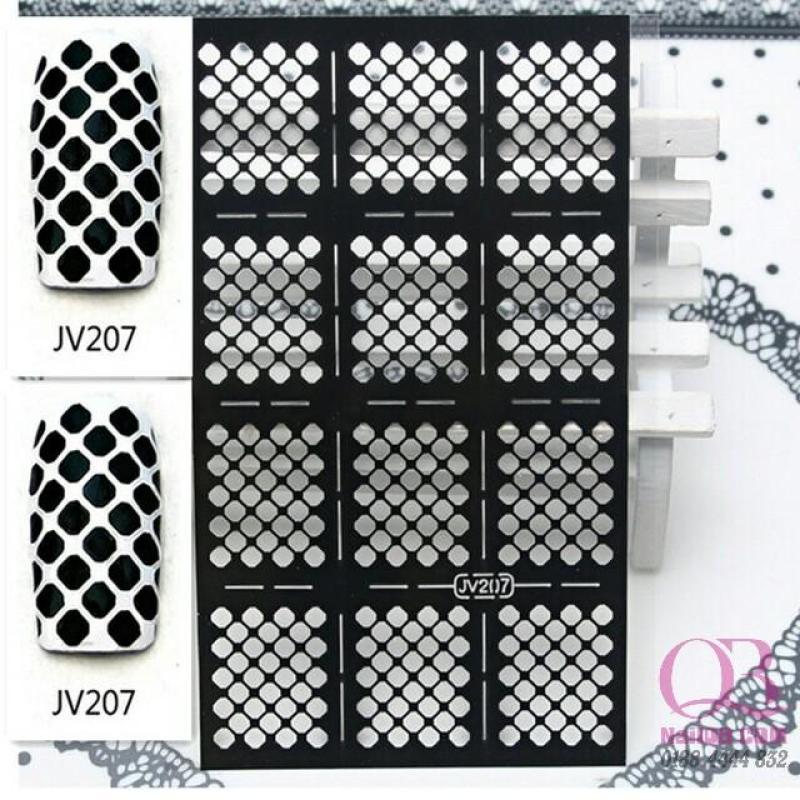 Giấy dán lưới hollow sticker tạo kiểu cho móng hơn 20 kiểu tùy chọn nhập khẩu