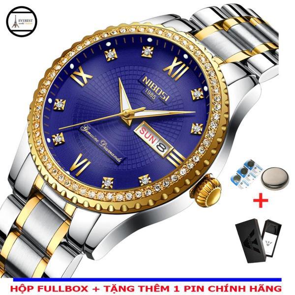 Nơi bán Đồng hồ nam, đồng hồ Nibosi 2315 viền hột, dây đúc, thép không gỉ (Ni2315 nhiều màu)