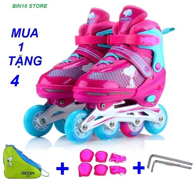 Giá bán giầy trượt patin phát sáng siêu đẹp,,, tặng full bộ bảo hiểm + tặng thêm 1 túi xách giầy tiện lợi + 2 lục lăng siết ốc