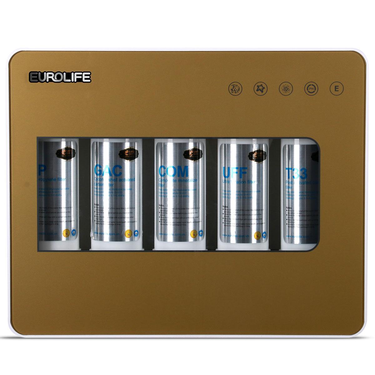 Máy lọc nước uống trực tiếp 5 cấp độ lọc Eurolife EL-UF5 (Gold)