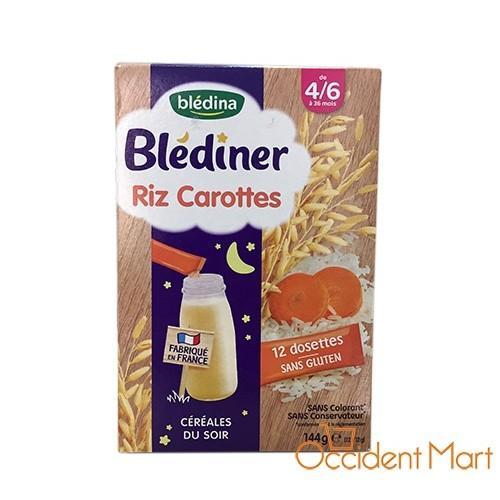 Bột pha sữa ban đêm vị gạo-cà rốt Bledina trẻ từ 4-6 tháng tuổi