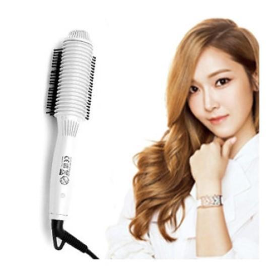 Lược điện NOVA 8810 uốn cúp chải thắng tóc đa năng(trắng) Loại 1