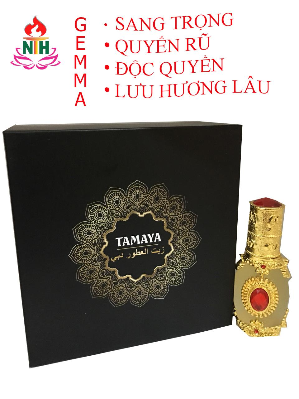 Nước hoa tinh dầu mùi GEMMA cho nữ( full hộp) - mẫu RUBY VIP 12ml