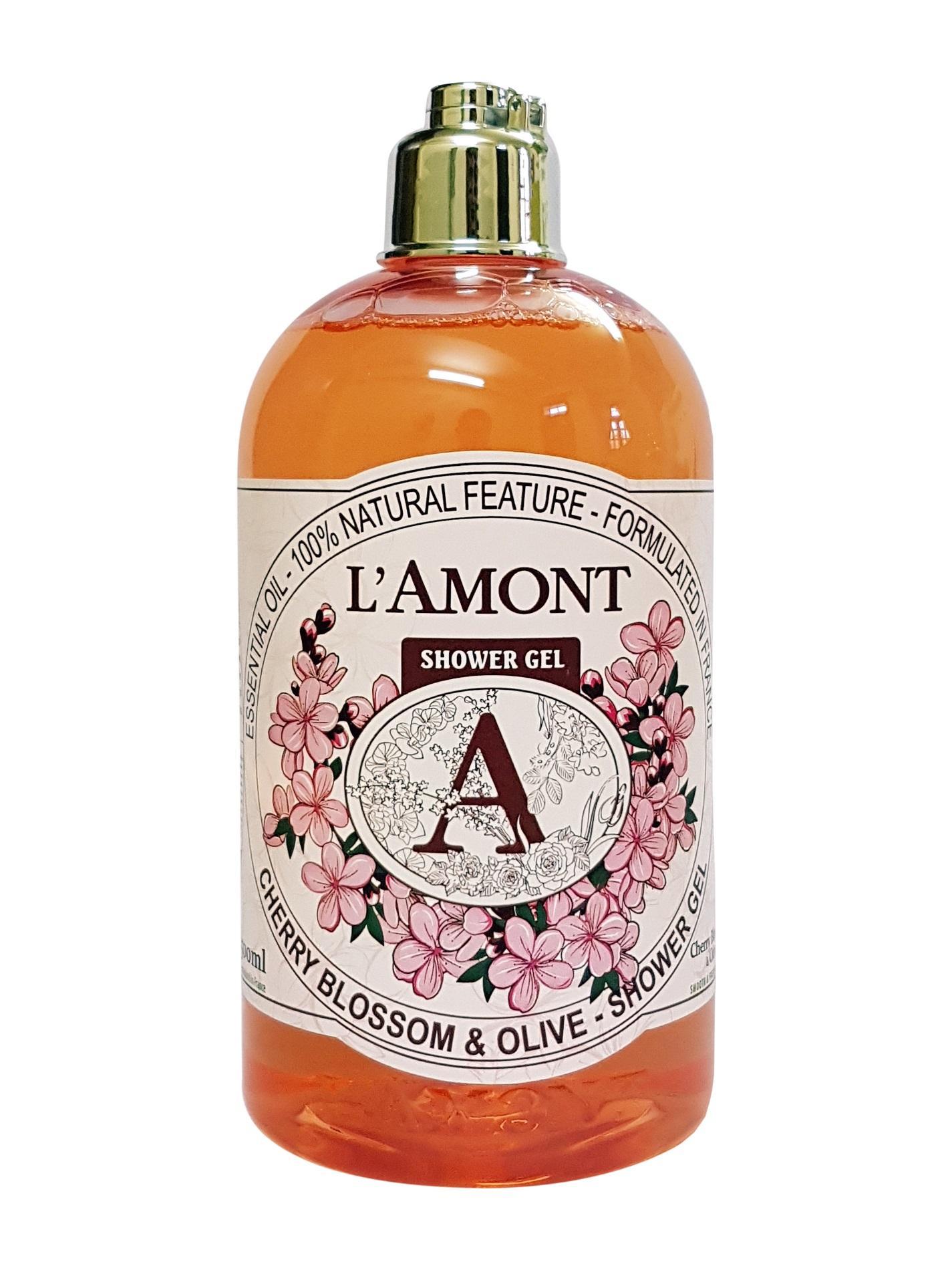 Hình ảnh Sữa Tắm Lamont En Provence Cherry Blossom Shower Gel Hương Hoa Anh Đào Chai 500ml.