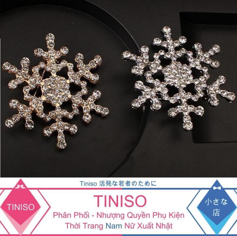 Cài Áo Hoa Tuyết Đính Đá Thời Trang TINISO6001