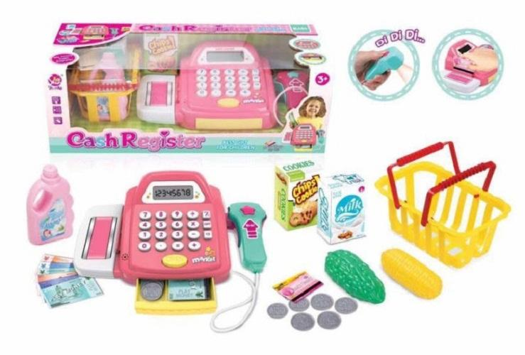 Hình ảnh Đồ chơi tính tiền cho bé tập làm thu ngân siêu thị dùng pin,có nhạc(kèm pin),Máy tính tiền siêu thị,Do choi thu ngan,tinh tien