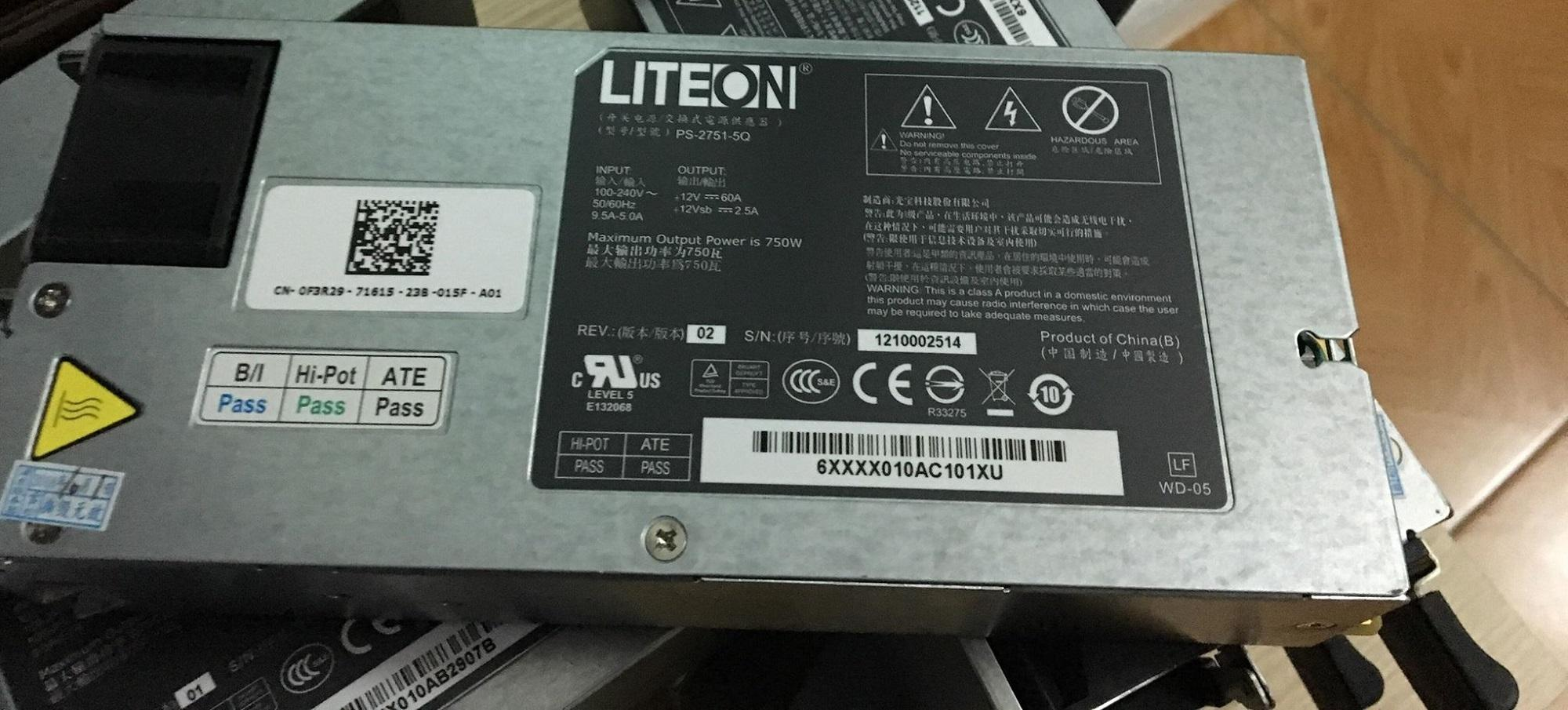 Nguồn SERVER DELL Liteon 12v 750W(~60A)