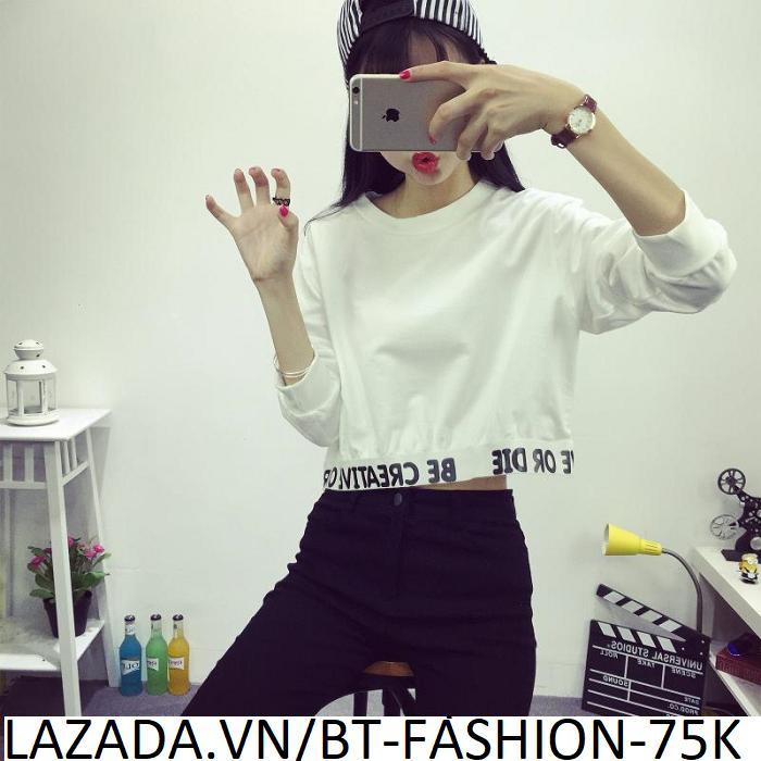 Áo Thun Nữ Kiểu Crop-Top (Hở Eo) Thời Trang Hàn Quốc Mới - BT Fashion (AT01)