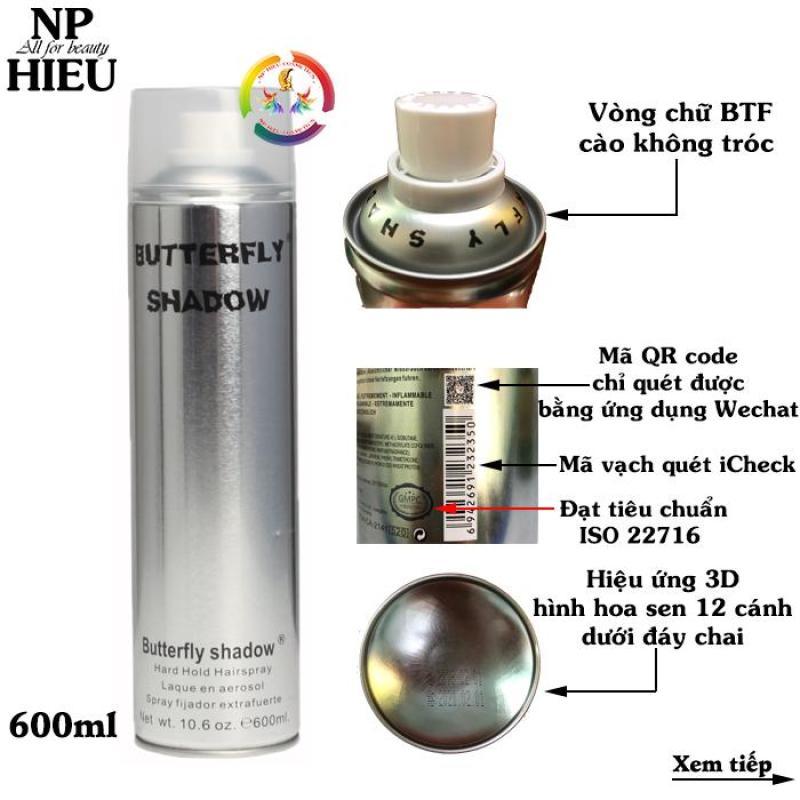Gôm xịt tóc Butterfly Shadow 600ml giá rẻ