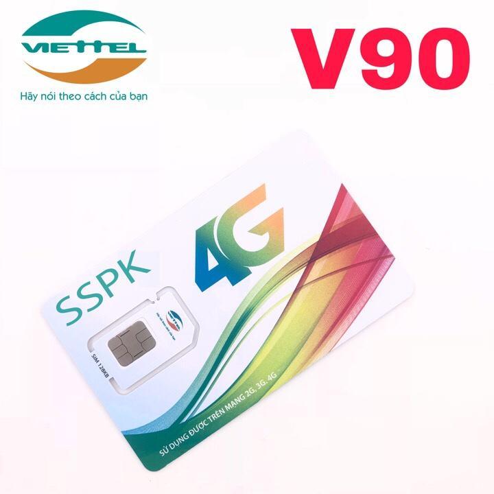 Hình ảnh Sim 4G Viettel V90 Khuyến mãi Gọi nội mạng miễn phí không giới hạn phút gọi, tặng 50 phút gọi ngoại mạng và tặng 2gb/ ngày - V90 simsophukien