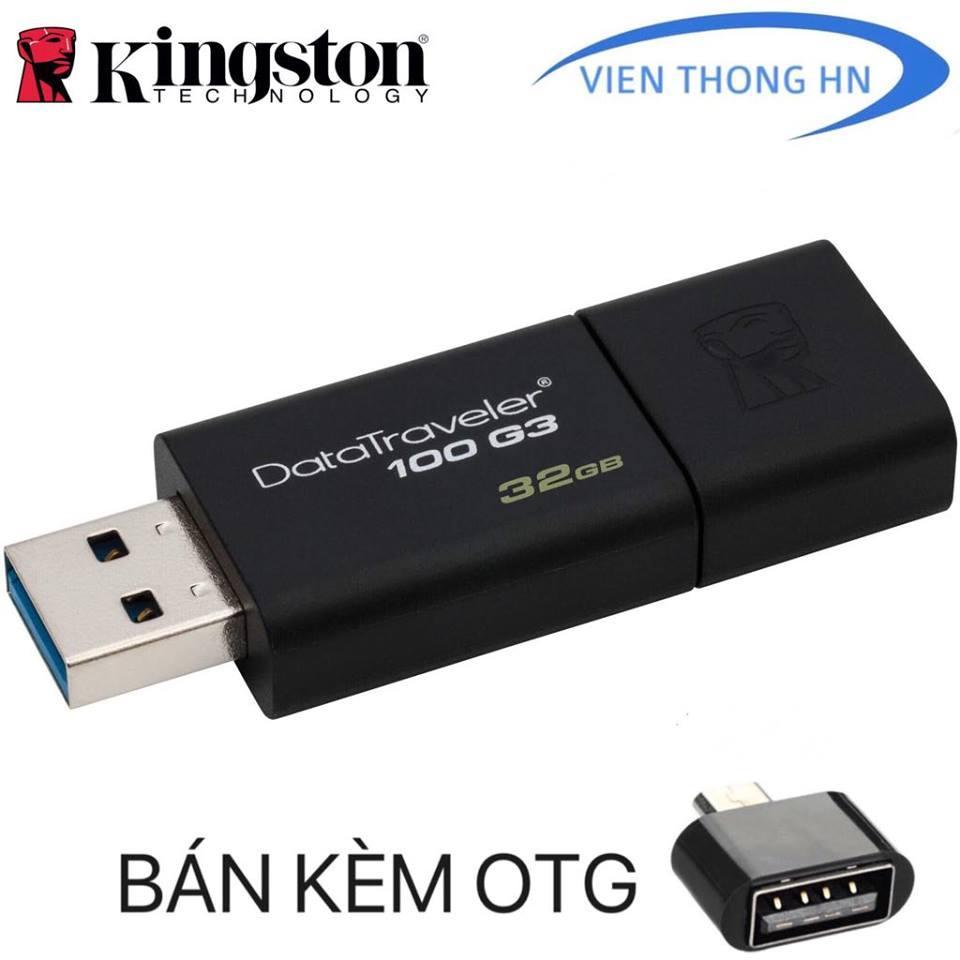 Hình ảnh USB 3.0 32GB Kingston DT 100 G3 - CAM KẾT BH 5 NĂM 1 ĐỔI 1
