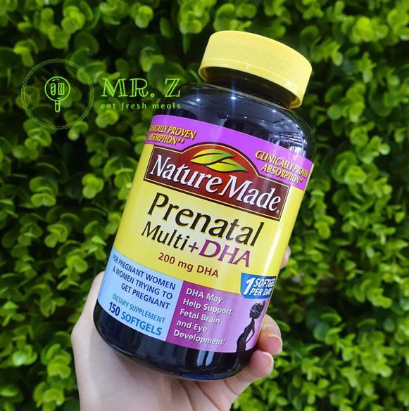 Vitamin và DHA cho bà bầu loại 200mg 150 viên chính hãng