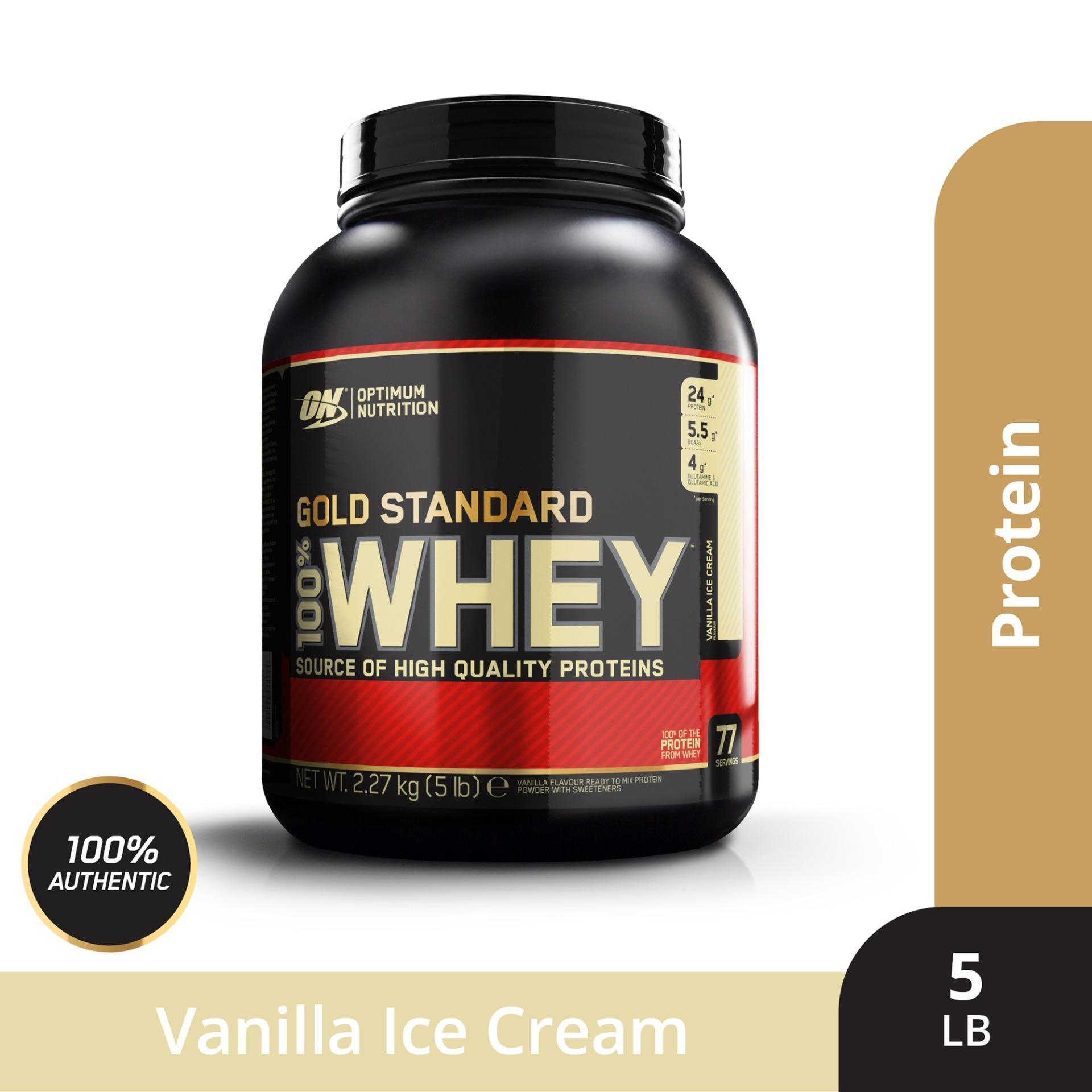 Hình ảnh Thực phẩm bổ sung Optimum NutritionGold Standard 100% Whey Vanilla Ice Cream5 lbs