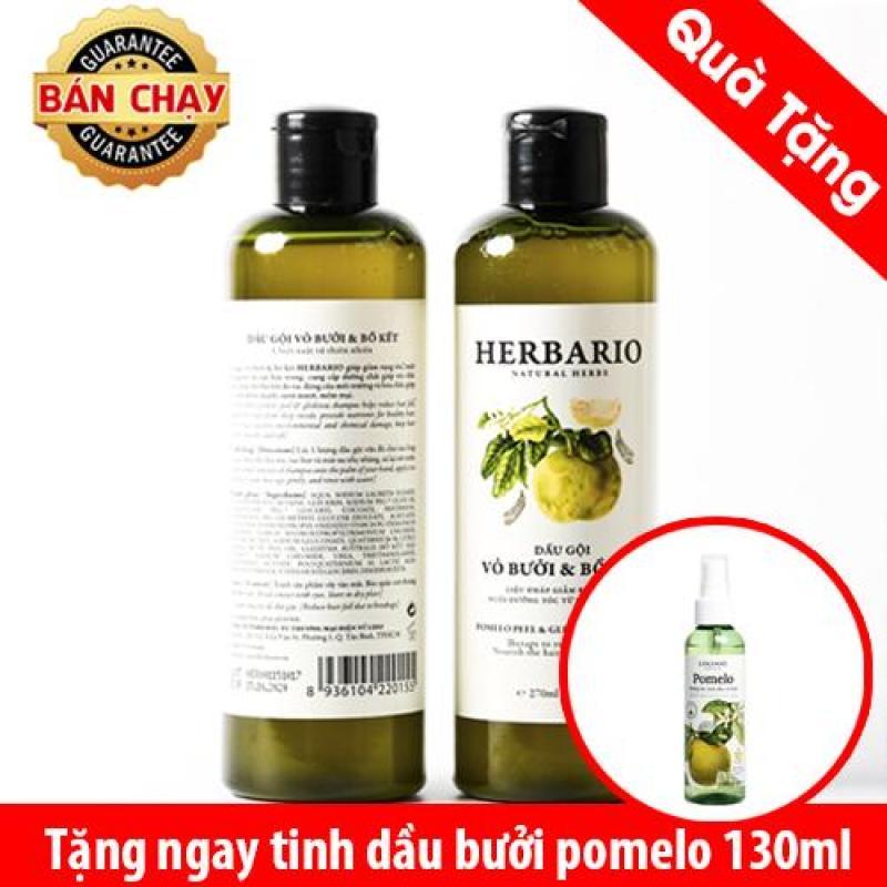 Dầu gội vỏ bưởi bồ kết Herbario giúp mọc tóc Tặng 1 dưỡng tóc bưởi nhập khẩu