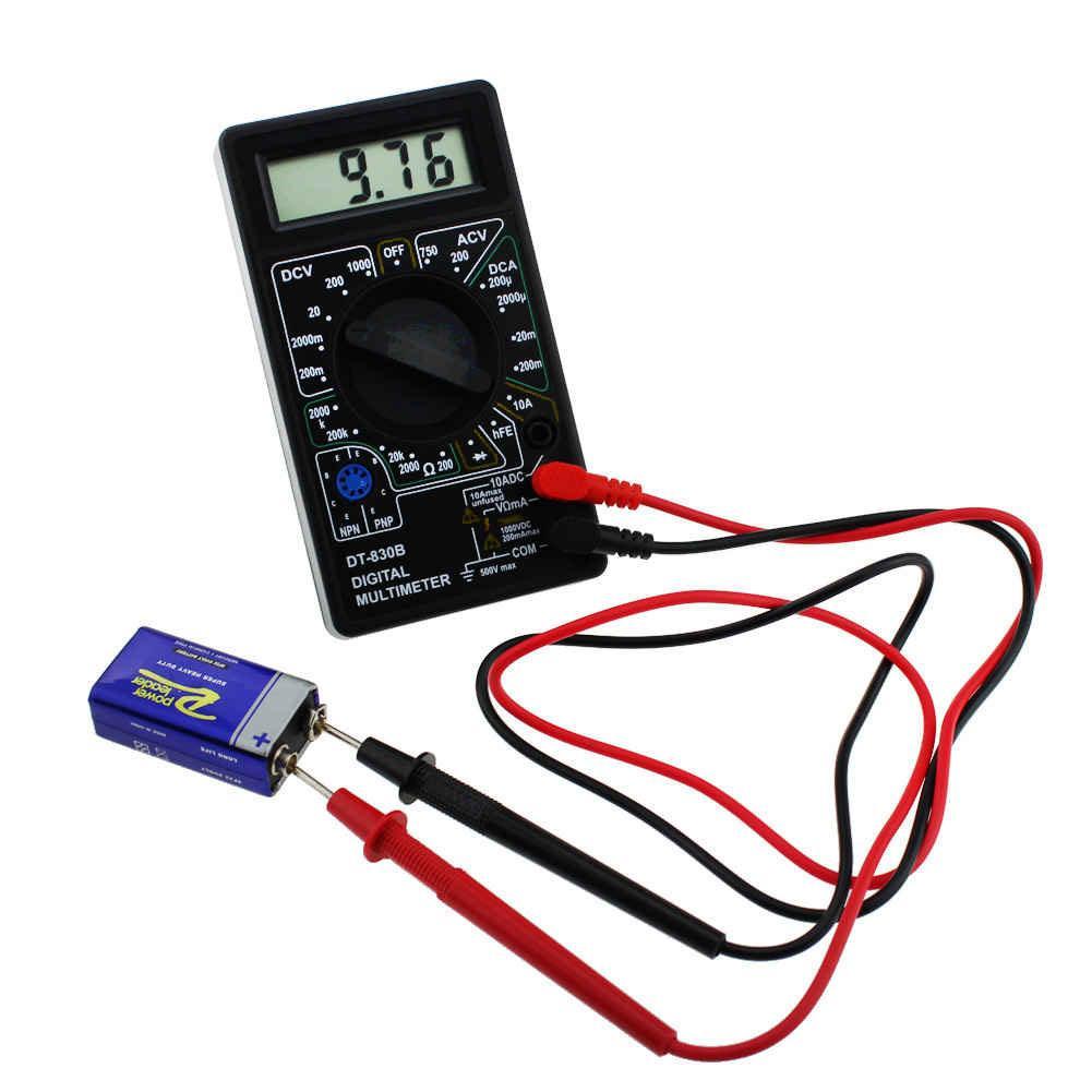 Đồng hồ đo vạn năng cho thợ điện tử DT-830B (Đen)