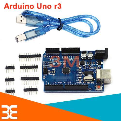 Kit Arduino UNO R3 - Chíp CH340G-Dán ( tặng 01 Dây Kết Nối )